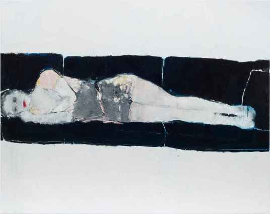 Linda Stojak Painting New Work Figure lays on couch