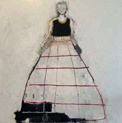 Linda Stojak Painting New Work Figure in Dress