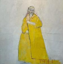 Linda Stojak Painting New Work Figure in Coat