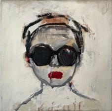 Linda Stojak Painting New Work Face